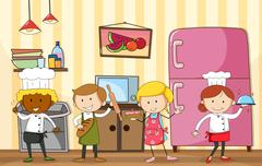 Stock Illustration of Baking and cooking