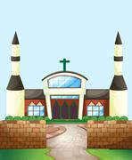 Church - stock illustration