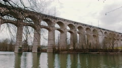 Aqueduct in germany - stock footage