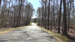 Chancellorsville Civil War site road drive POV 4K 006 Stock Footage