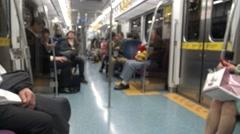 4K Hd Ultra, Close Up Of Man Using Smart Phone check calendar day In Subway -Dan Stock Footage