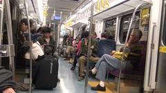 4K Hd Ultra, travel in the small local train from Taipei in Taiwan-Dan Stock Footage