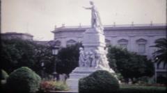 1980 - monuments & buildings in Havana Cuba - vintage film home movie Stock Footage