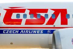 Czech Airlines Plane Stock Photos