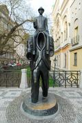 Franz Kafka Statue - Prague, Czech Republic - stock photo
