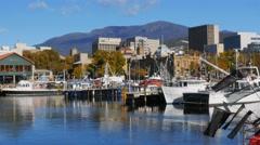 Hobart tasmania waterfront Stock Footage