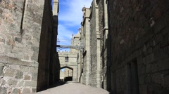 Passage of a medieval castle. Stock Footage