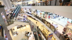 Time lapse of  Shopping center Stock Footage