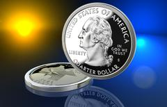 US Quarter - Texas - stock illustration
