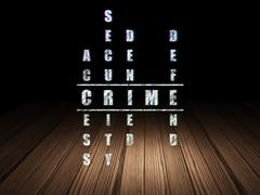 Stock Illustration of Security concept: word Crime in solving Crossword Puzzle