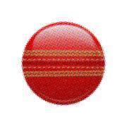 Halftone cricket ball - stock illustration