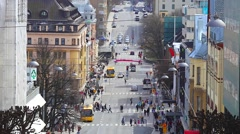 City view Skandinavia Turku Finland Stock Footage