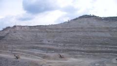 Panorama stone quarry Stock Footage