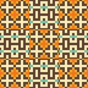Seamless pattern. Mosaic Stock Illustration