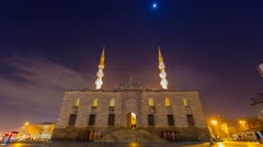 New Mosque Time Lapse, Tilt Shift Right 4K Stock Footage