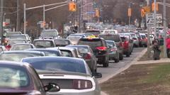 Traffic jam gridlock rush hour in Toronto Stock Footage