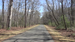 Chancellorsville drive POV Civil War road fast 4K Stock Footage