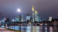 Frankfurt am Main - skyline - Hyperlapse - 4K UHD Stock Footage