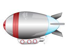 Airship on white - stock illustration