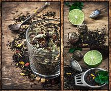 tea brew - stock photo