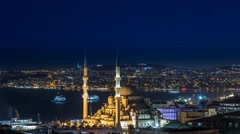 New Mosque Time Lapse in Istanbul 4K Stock Footage