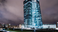 Frankfurt am Main - ECB - motion timelapse - 4k UHD Stock Footage
