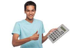Happy Student with Thumbs Up Stock Photos