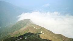 Lantau Peak in Hong Kong Stock Footage