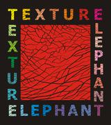 Abstract elephant skin texture Stock Illustration