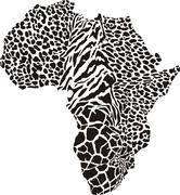 Africa in a animal  camouflage Stock Illustration