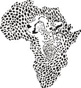 Africa in a cheetah camouflage Piirros
