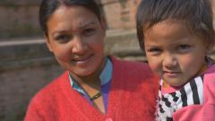 PATAN, NEPAL - MARCH 23, 2015 : Unidentified nepal people in Patan, Nepal Stock Footage