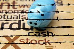 Piggy bank and stock concept Stock Illustration