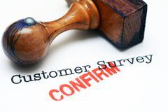 Customer survey - confirm - stock illustration