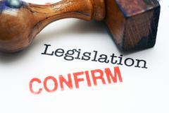 Legislation - confirm - stock illustration