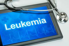 Tablet with the diagnosis Leukemia on the display - stock photo