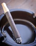cigarette in ashtray - stock photo