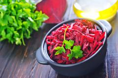 Casserole of grated beet with parsley  Stock Photos