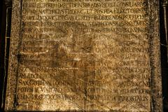Ancient Marble Stone and Alphabet - stock photo