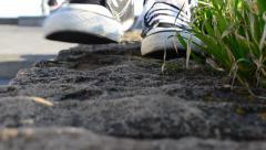 Gait in sneakers Stock Footage