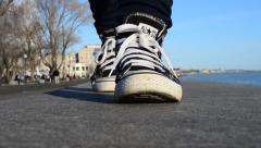 Convenient footwear Stock Footage