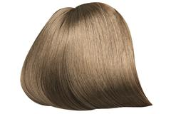 Brown, dense and straight hairpiece - stock photo