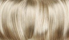 Closeup picture of dense, straight wig - stock photo