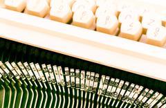 typewriter keyboard - stock photo