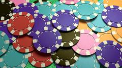 Stock Illustration of mass casino chips colorful