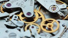 Rotating Clock Mechanism Chronometer Gears Stock Footage