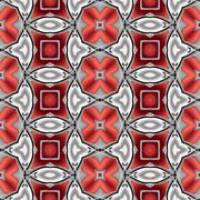 Abstract silver red chrome metallic geometric texture or background made seam Stock Illustration