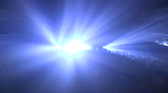 Rave party in old theatre Stock Footage