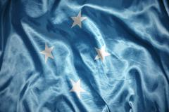 Shining federated states of micronesia flag Stock Photos