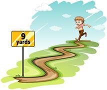 Running - stock illustration